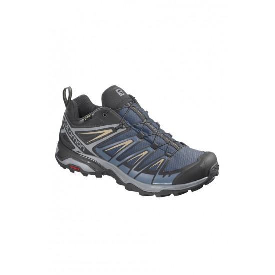 Salomon X Ultra 3 GTX Erkek Outdoor Ayakkabı Dark Denim - Copen Blue